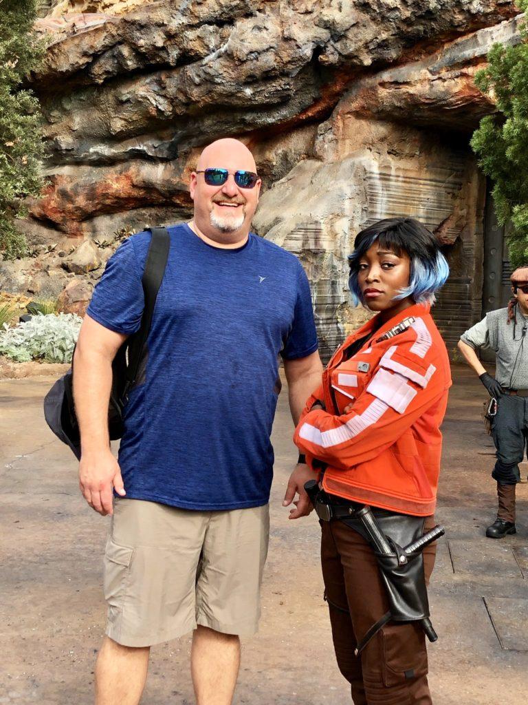 Rob LaBarre at Star Wars: Galaxys Edge in Disneyland